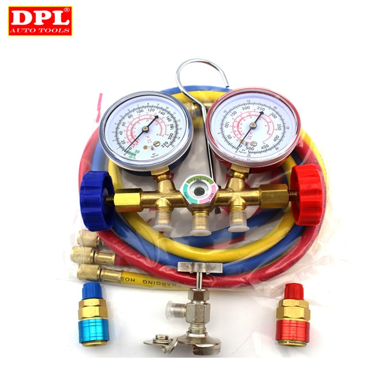 Фреон добавляющий манометр для авто Air Conditiong Syetem & R12 R22 R502 Manifld Gauge|manifold gauge set|manifold