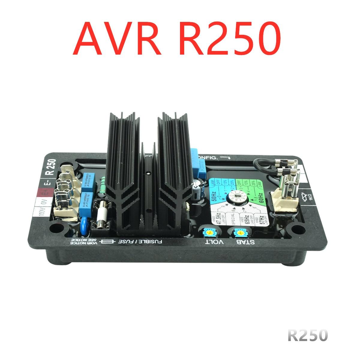 Генератор AVR R250 автоматический модуль регулятора напряжения бесщеточная система
