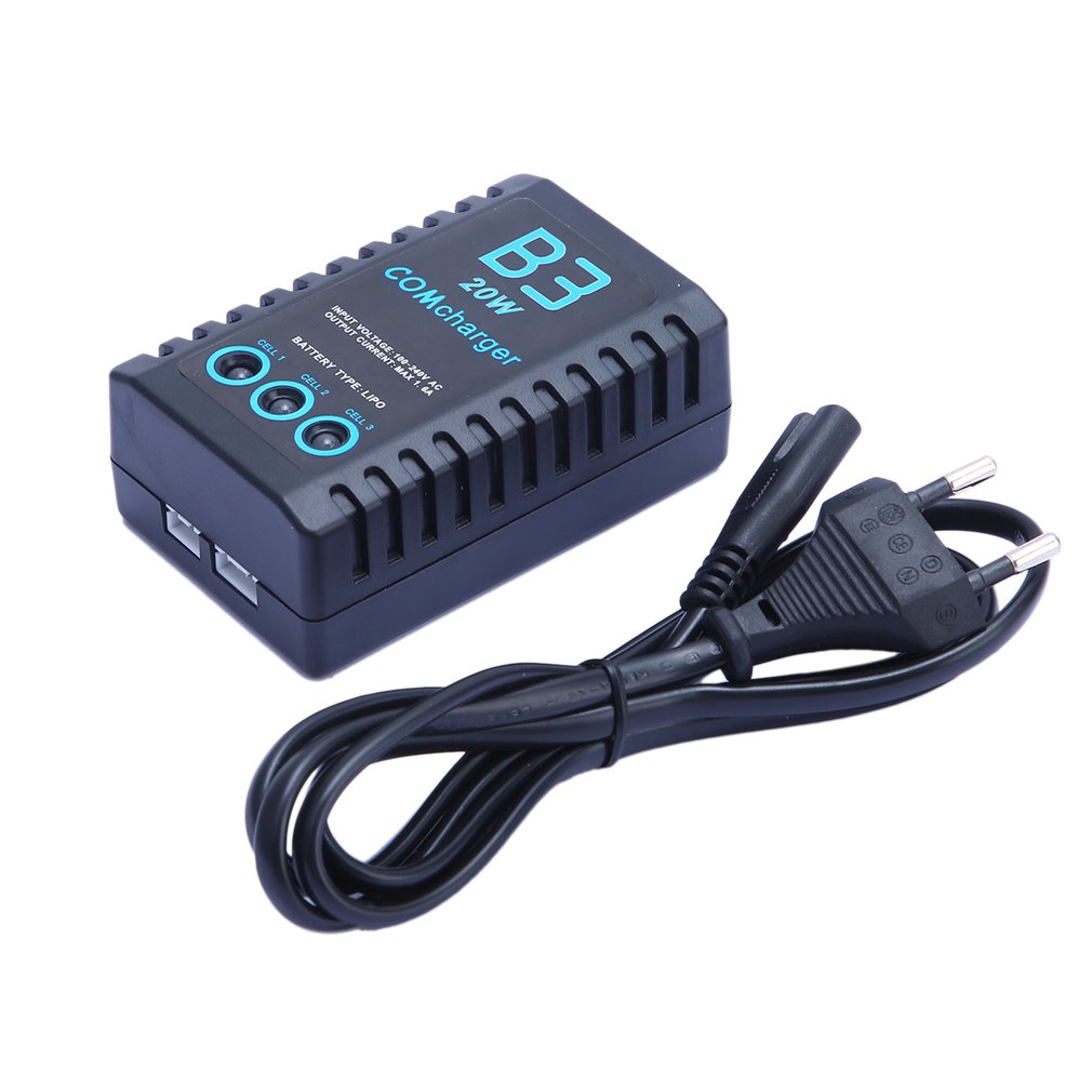 Умное зарядное устройство B3 20W 2S 3S LiPo компактное простое балансирующее ABS для RC