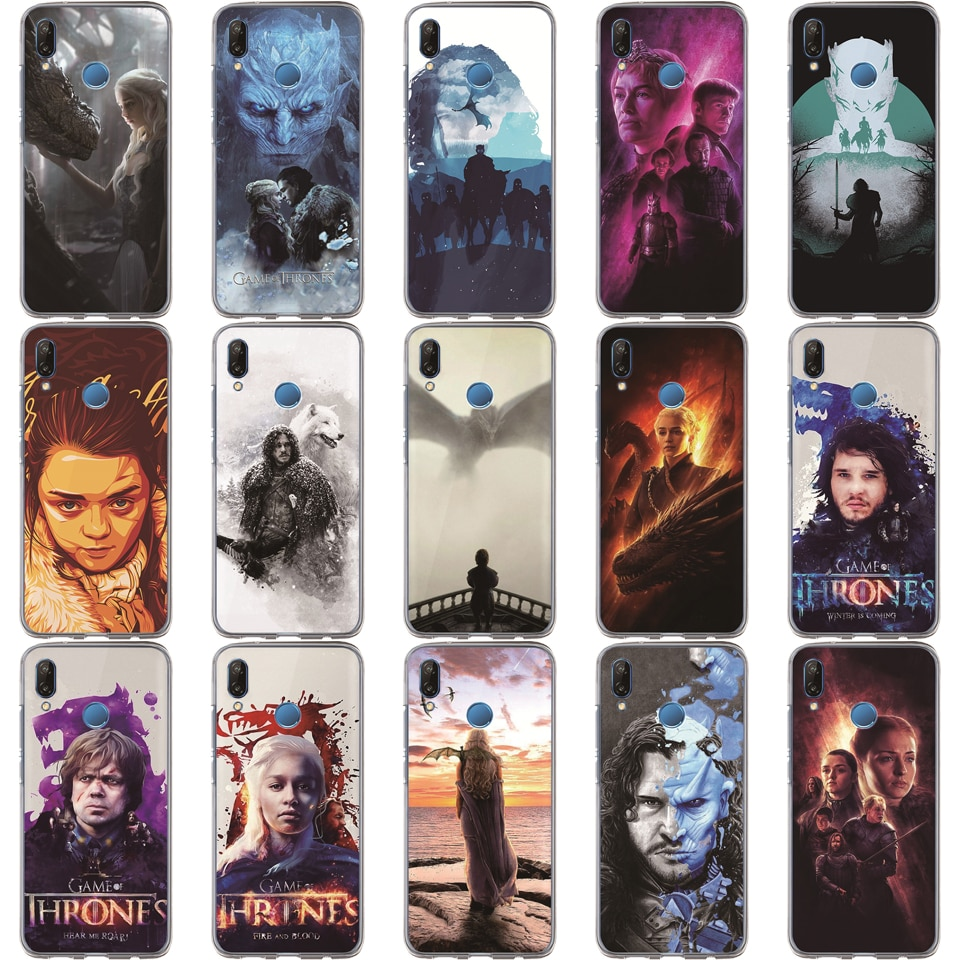 Игровой чехол для телефона Etui Huawei Honor 10 Lite 9 8 7A 7C 7X 7 6A Jon Snow Tyrion Night King Lannister мягкий
