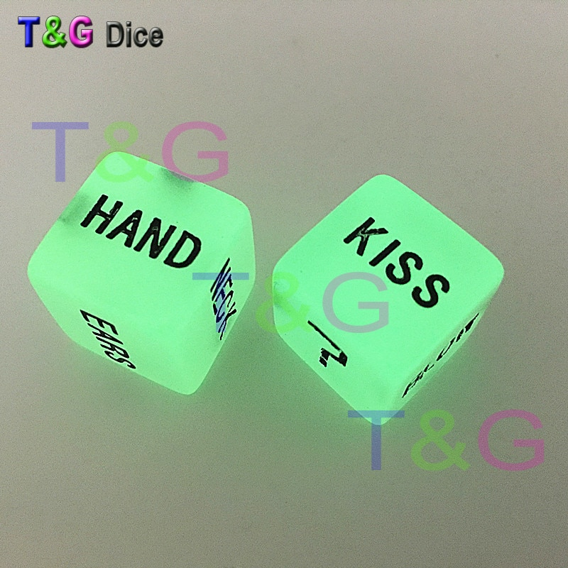 2pc/Lot High Quality 16mm Fun Glow in the dark Dice Night Lignht Darinking dice|glow dice|dice glowglow |