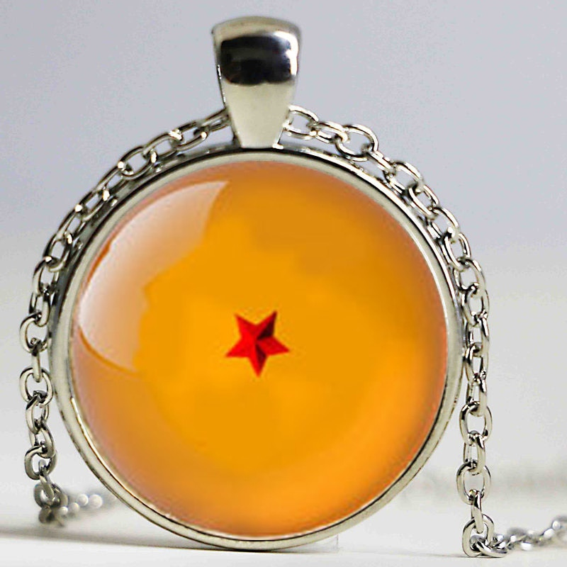 GSN 019 1pcs Dragon Ball z 1 star Necklace inspired Pendant Glass Cabochon Necklace|GSN-019