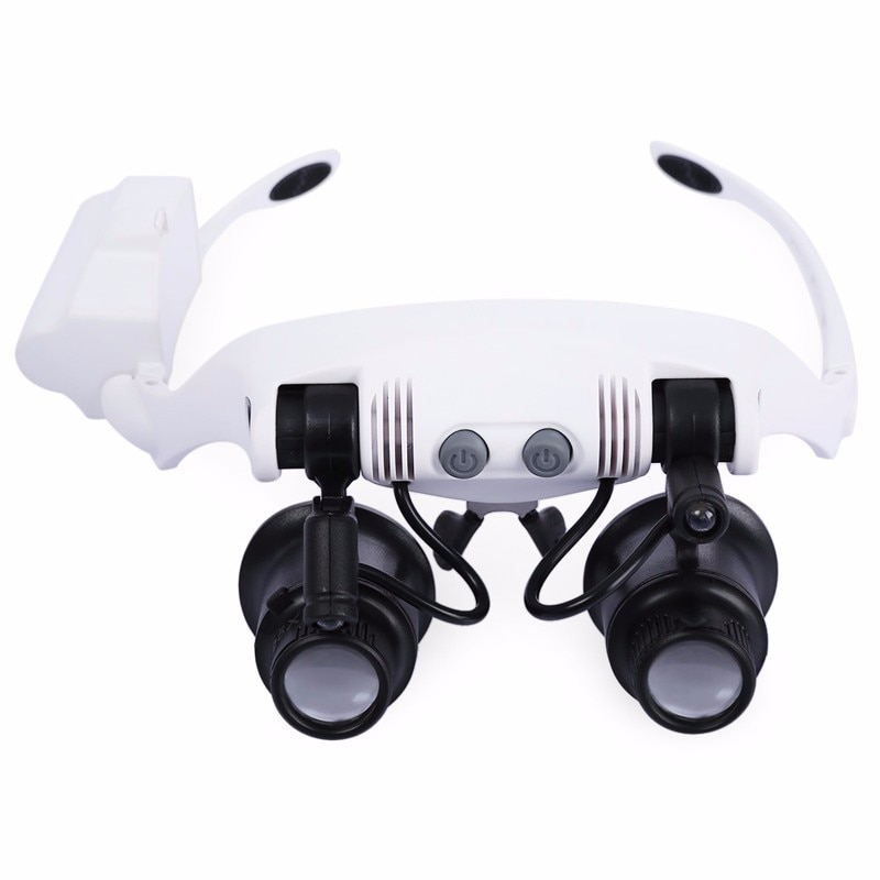 Wholesales Headband LED Magnifying Glass Headlamp Microscope Jewelry Watch Repair|Лупы| |