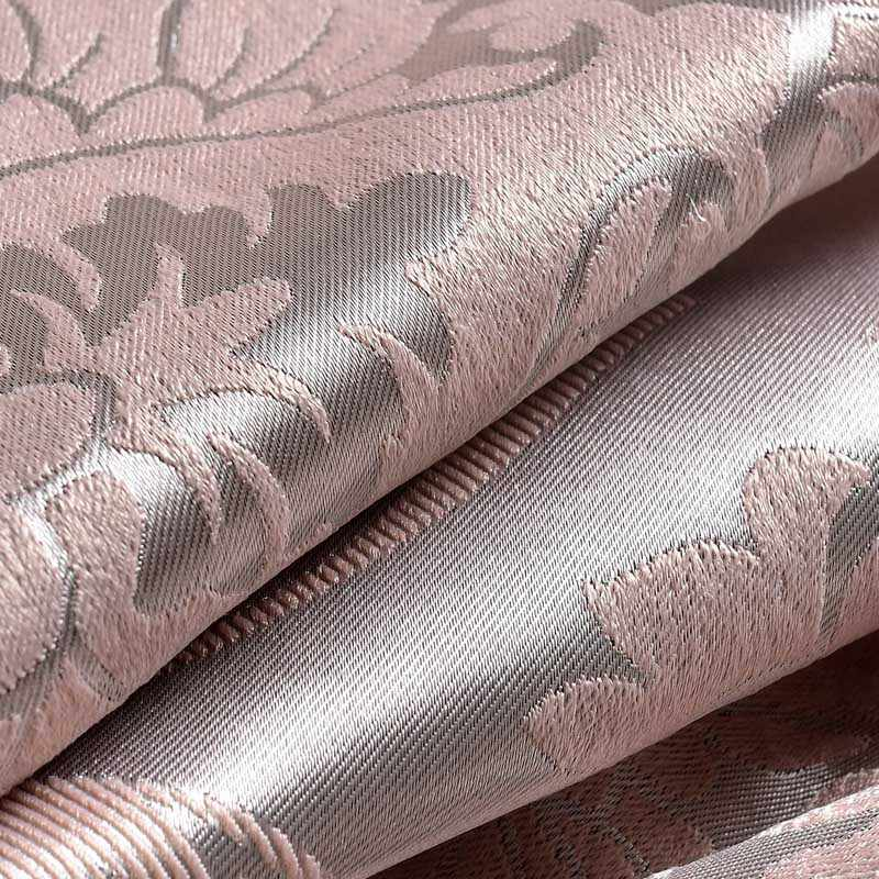 Fabric Elegant Luxury Blackout Curtains For Living Room Pink Blinds Jacquard Drapes Damask European Window Treatments Panels