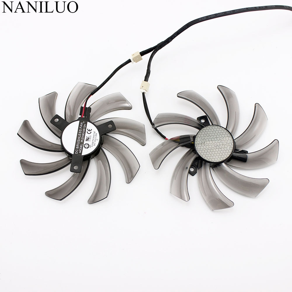 Вентилятор T129215SM PLD10010S12H 95 мм для GIGABYTE GTX 560 600 650 Ti 660 670 750 40 HD7750 HD7790 HD7850 12 В 0 30 А|dual