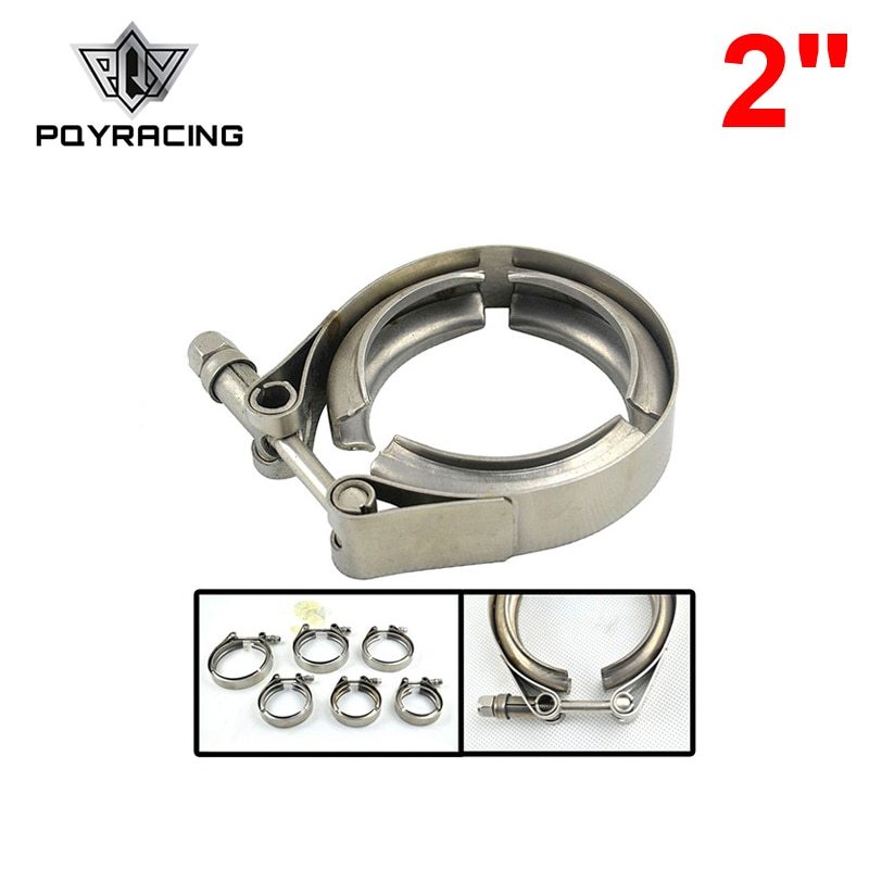 PQY 2 &quotиз нержавеющей стали 304 TURBO/INTERCOOLER/DOWNPIPE/DOWN PIPE/HOSE V Band CLAMP VCN2|Подвесы хомуты и