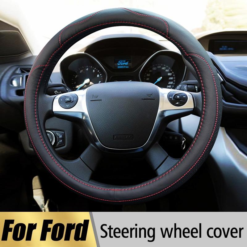 Чехол на руль для Ford Focus 2 3 Fiesta Mondeo Kuga Ranger Fusion Transit Mustang Escape|steering wheel cover|wheel coverwheel steering