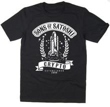 Koszulka z synami Satoshi-Bitcoin Crypto Reddit Btc Ltc Xrp męskie koszulki moda 2019 Casual Slim Fit markowe ciuchy Sporter T Sh