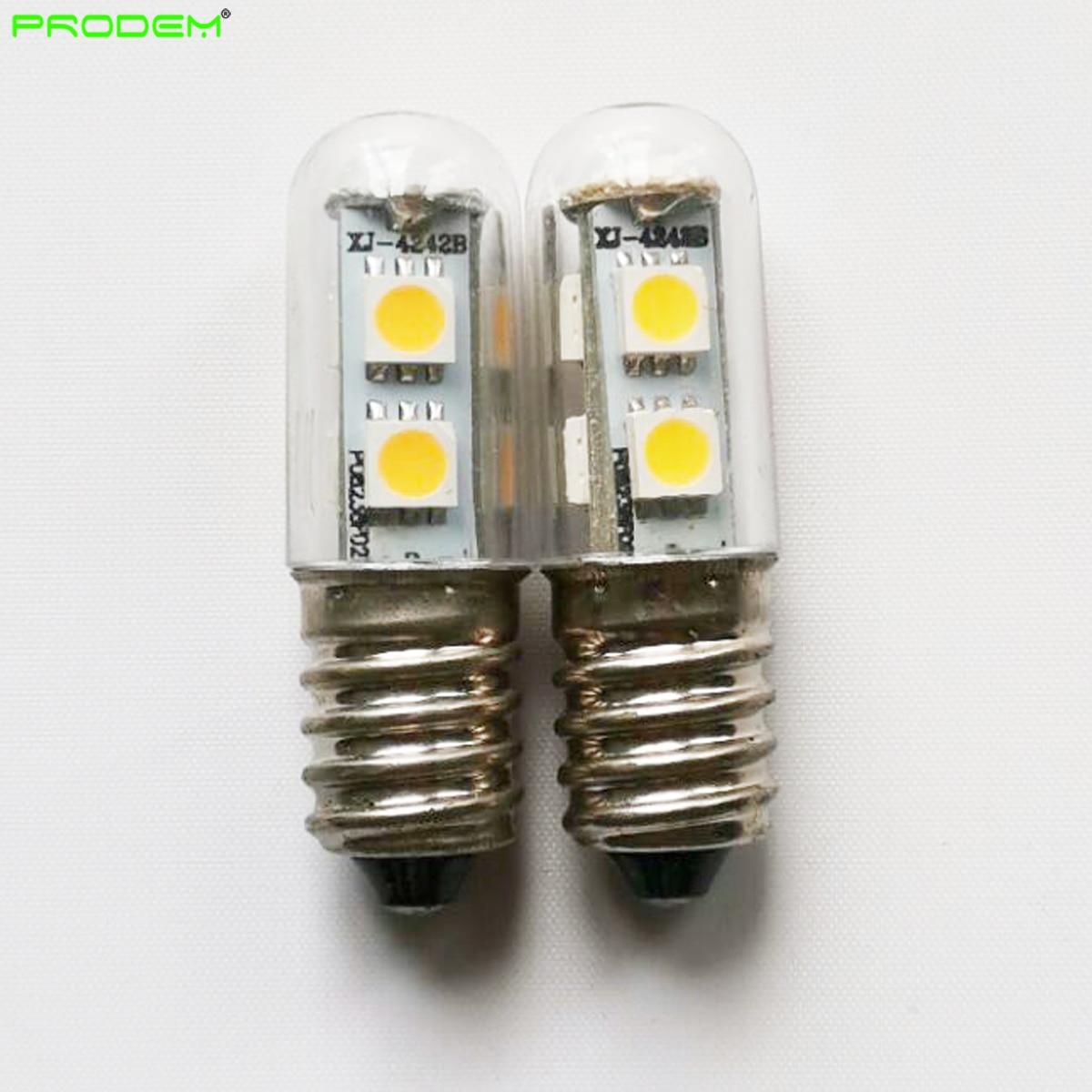 Wholesale 100 PACK 120V 220V 230V E14 1W 7*5050SMD mini led corn bulb bombilla LED for freezer refrigerator sewing machine enlarge