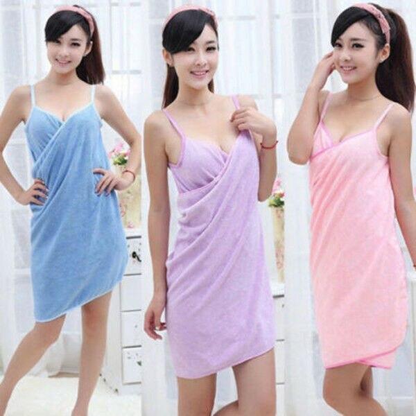 Textil para el hogar toalla multifuncional batas de baño para mujer vestido de toalla portátil para mujer de secado rápido playa Spa mágico ropa de dormir