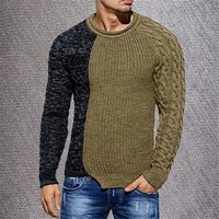 sweaters pure color casual knit shirt autumn wool pullover man high collar xxxl cashmere sweater men brand clothing