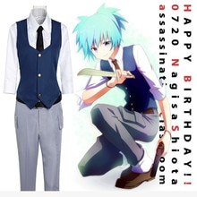 Assassinat classe korosensei Shiota Nagisa GalGame cosplay Costumes jeu japonais anime garçons uniformes cosplay