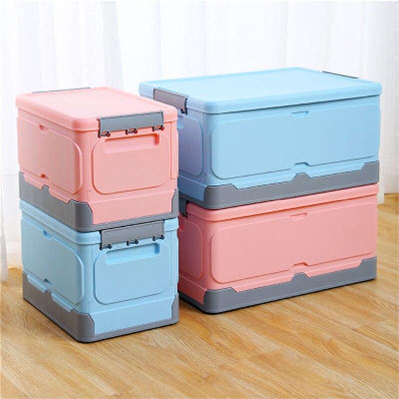 للطي الملابس صندوق تخزين بلاستيكي غطاء خزانة منظم سعة كبيرة كتب القماش منظمة Car السيارات