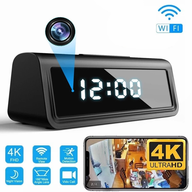 Mini cámara de seguridad con visión nocturna para el hogar, videocámara inalámbrica...