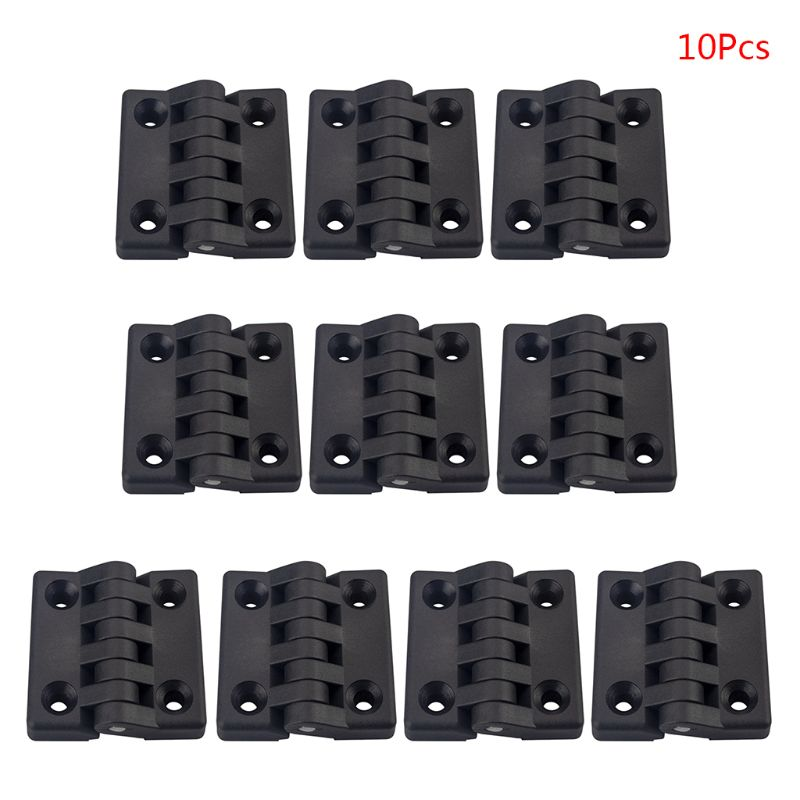 10PCS Black Nylon Plastic Butt Hinge Drawer Jewellery Case Hinges for Wooden Box Cabinet Furniture H