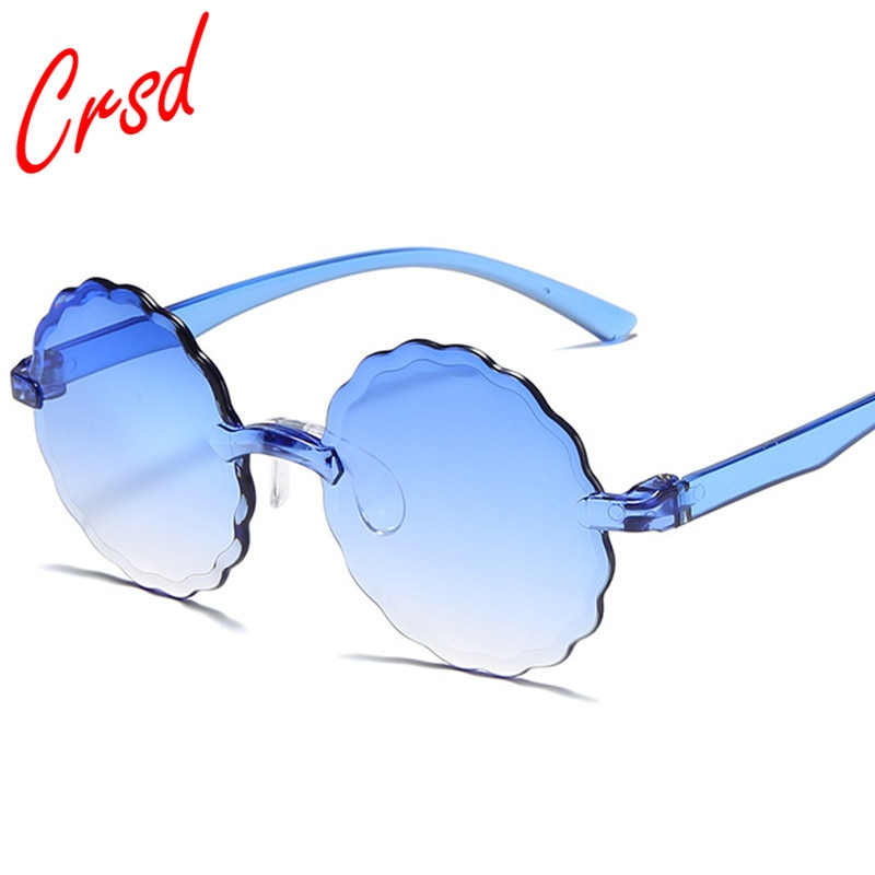 CRSD 2020 Round Wave Sunglasses Retro Ocean Lens Eyewear Women Personality Creative Fashion Quality