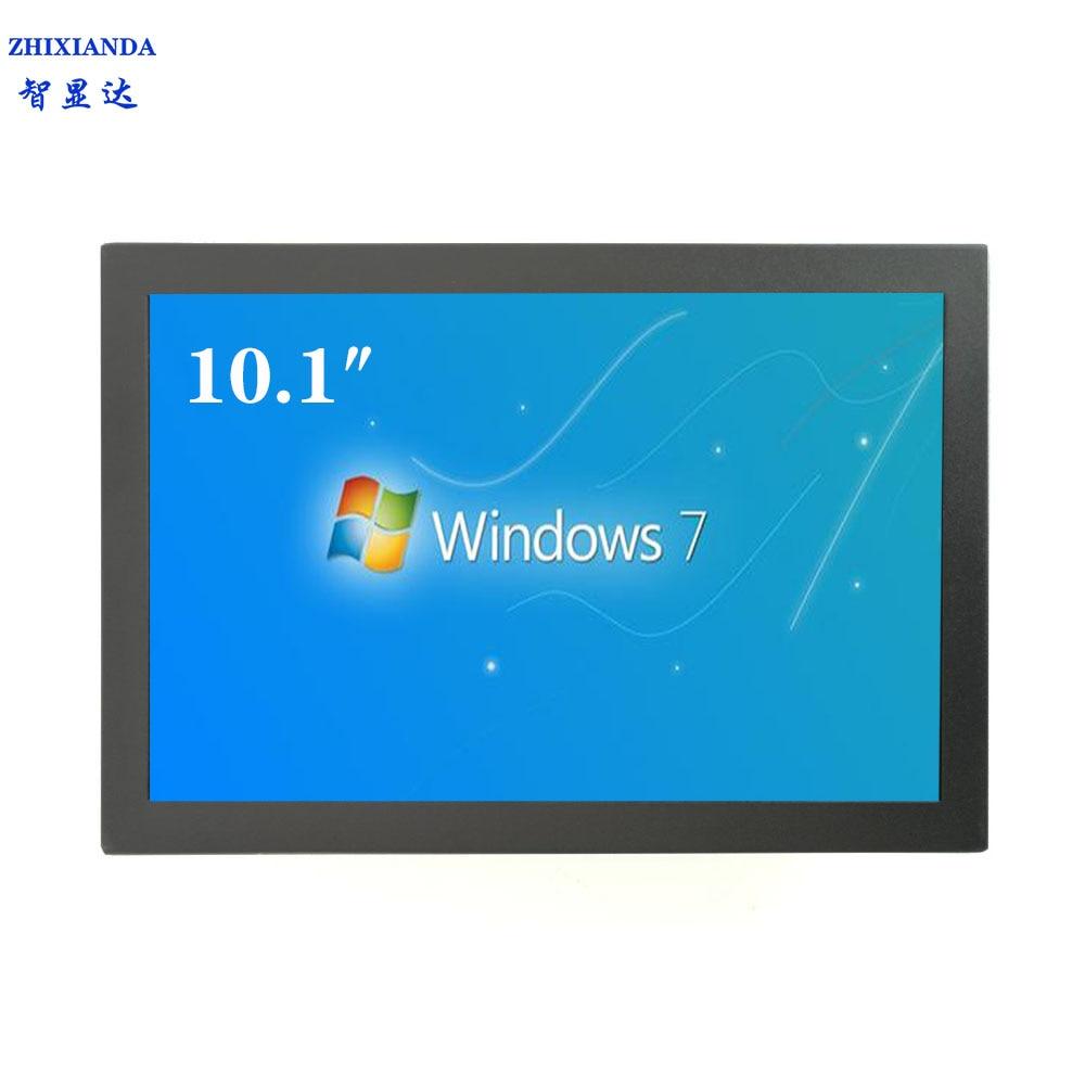 Zhixianda alta qualidade 10.1 polegada fhd 1080 p caixa de metal com hdmi vga usb av entrada quadro aberto monitor industrial