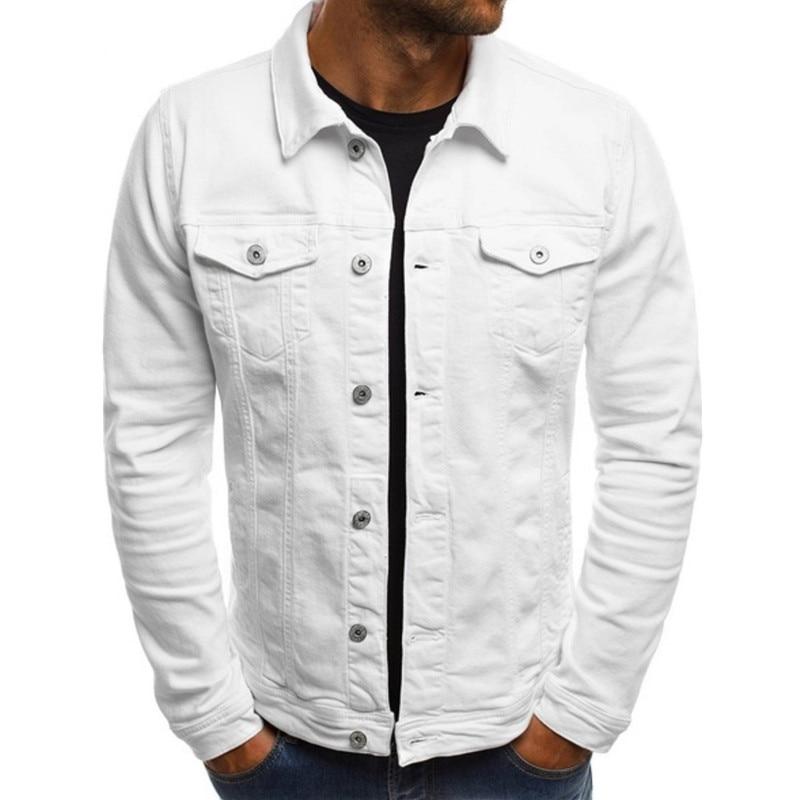 Мужская джинсовая куртка уличная одежда в стиле «хип-хоп», Мужская джинсовая куртка мужская повседневная Свободная верхняя одежда 2021 новая...