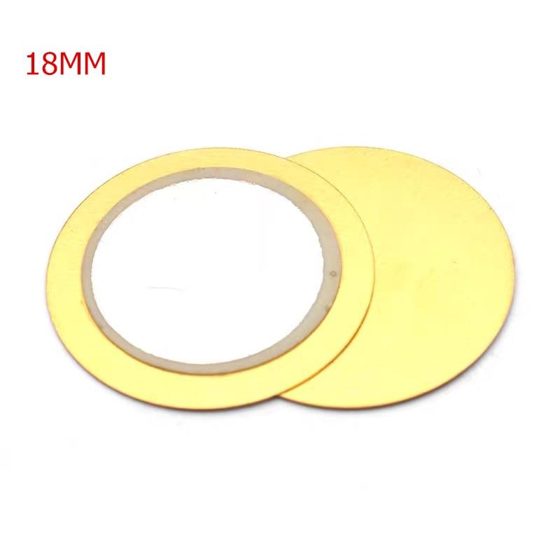 10Pcs 12mm 15mm 18mm 20mm 23mm 27mm  35mm  50mm Piezoelectric Piezo Ceramic Wafer Copper Plate Buzzer Loudspeaker for DIY