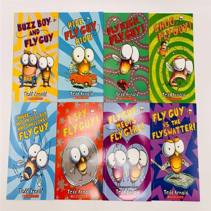 English Original Picture Book Fly Guy Complete Set of 15 The Fly Guy Series Children's Enlightenment Storybook