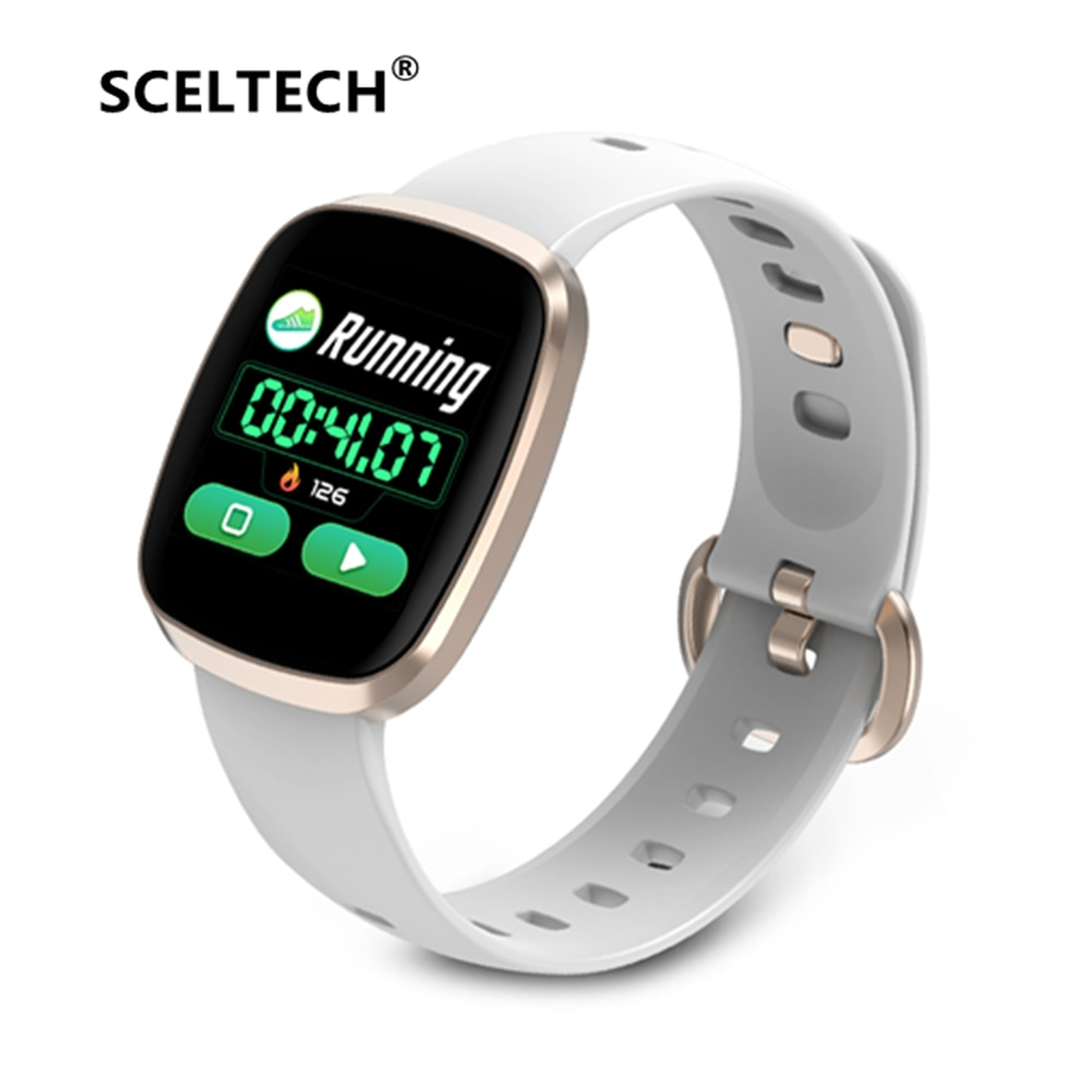 GT103 reloj inteligente Monitor de ritmo cardíaco Fitness a prueba de agua reloj inteligente Control de música pulsera táctil de pantalla completa