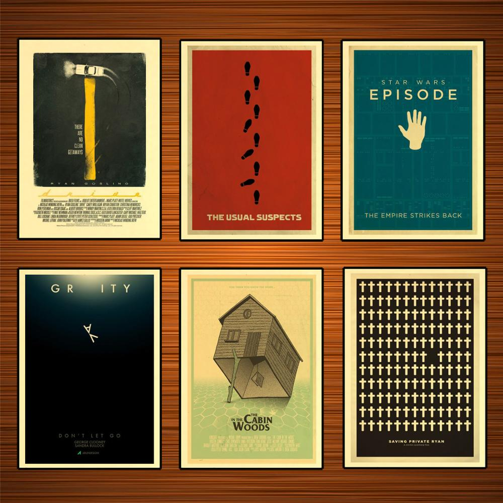 In The Cabin Woods Minimalist Movie Film Classic Paintings Decorative Vintage Poster Home Bar Decor 42x30cm