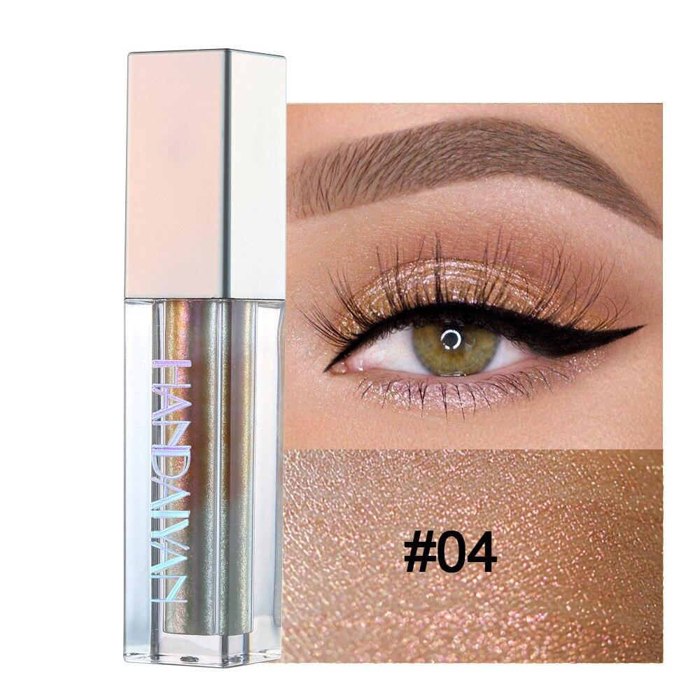 HANDAIYAN 10 Colors Magnificent Liquid Eyeshadow Metals Glitter Shimmer Lasting Waterproof Pigment Eye Makeup Cosmetic TSLM2