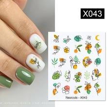 Harunouta 1 лист фруктовый цветок летние наклейки для ногтей наклейки сексуальная девушка Водная передача слайдер для дизайна ногтей