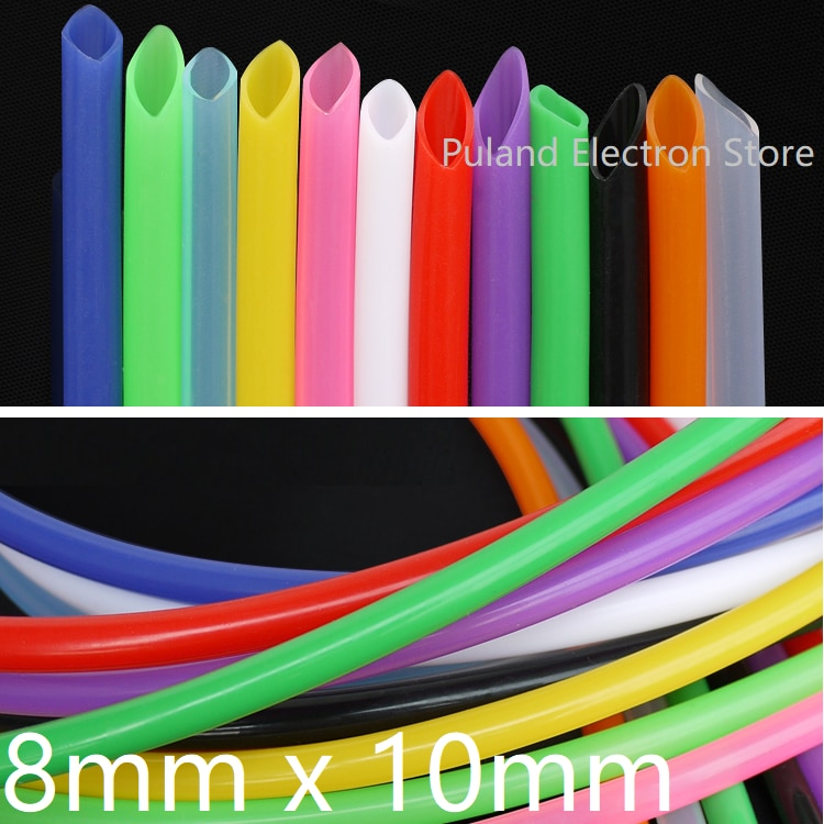 8mm x 10mm food grade silicone rubber flexible garden tube water hose plumbing hoses 8x10 Silicone Tube ID 8mm  OD 10mm Flexible Rubber Hose Thickness 1mm Food Grade Soft Milk Beer Drink Pipe Water Connector