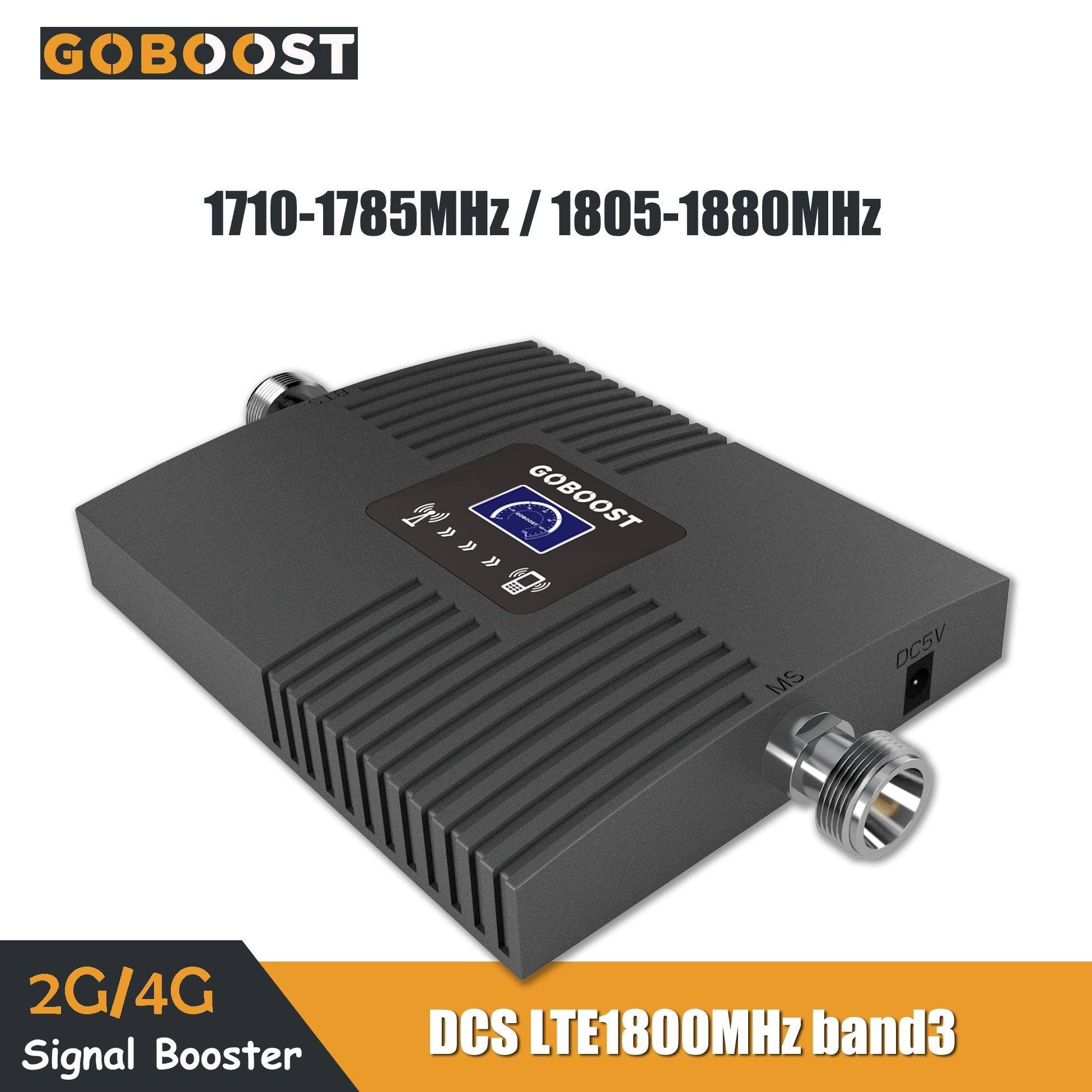 GOBOOST, repetidor GSM 1800 4G LTE, Amplificador de señal móvil, pantalla LCD Band3 DCS, mini amplificador móvil, repetidor de teléfono móvil 1800MHz