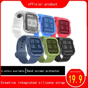 Newest Sport Solicone Watch Band case for apple watch 5 4 3 2 1 watchband iwatch 38mm 42mm 40mm 44mm wrist band straps