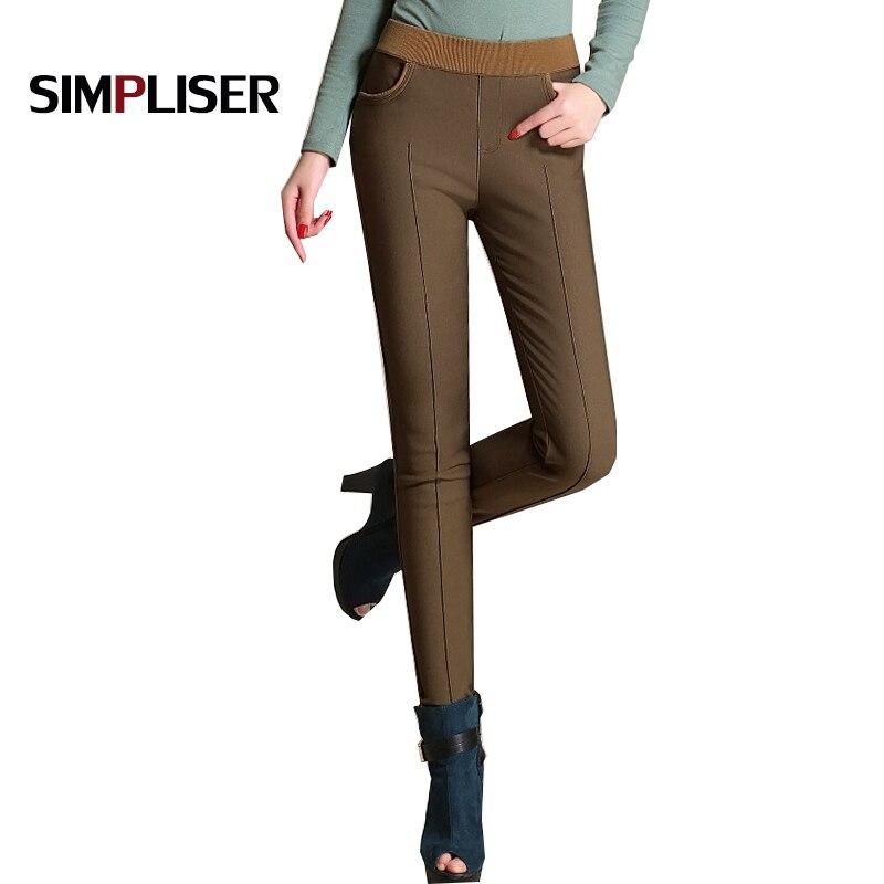 Женские зимние брюки-карандаш с эластичным поясом, бархатные черные теплые флисовые брюки, женские брюки размером 4XL, женские леггинсы 2020