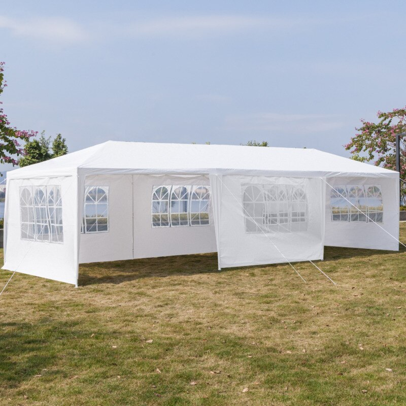 3x9m Portable Upgrade Outdoor Gazebo Canopy oversize Party Wedding Waterproof Tent Garden Patio Gazebo 5/7/8 Walls