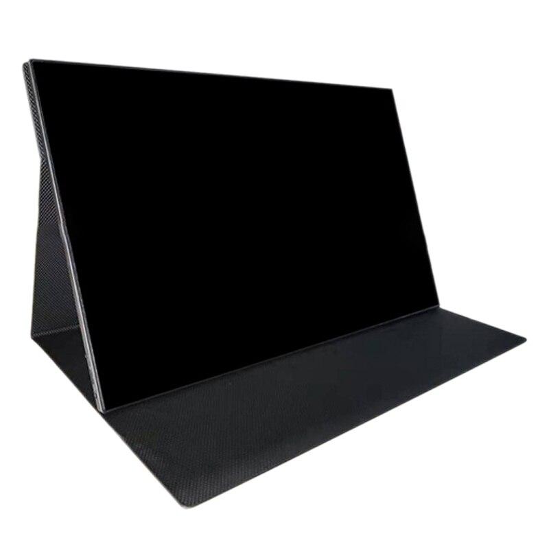 15,6 zoll Tragbaren Monitor Typ-C HDMI 1080P Spiel Externe PressDisplay für Handys/PC/PS/schalter (Eu-stecker)
