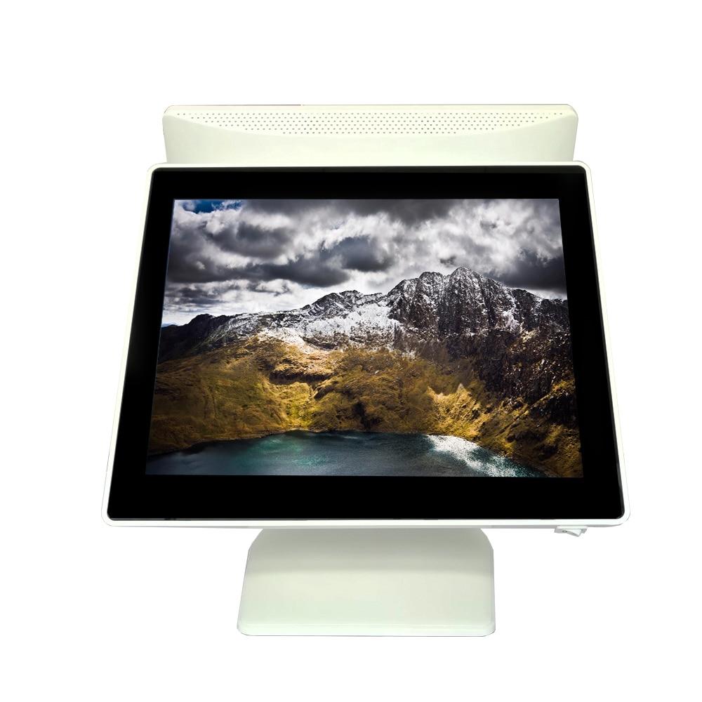Colorxb-محطة pos مع شاشة لمس مزدوجة مقاس 15 بوصة لنوافذ السوبر ماركت