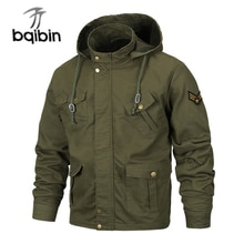 Plus Size Military Hooded Jacket Men Air Force Flight Jacket Male Cotton Spring Autumn Coats Men's A