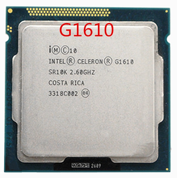 Procesador Intel Celeron G1610 (caché de 2M, 2,60 GHz) CPU de doble núcleo LGA 1155 100%, funciona bien, procesador de escritorio