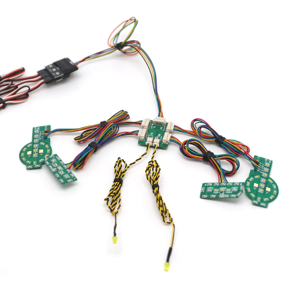 RC Crawler Car Light Set Linkage Light Simulation Car Light Board With Wires For TRX4 Ford Bronco enlarge