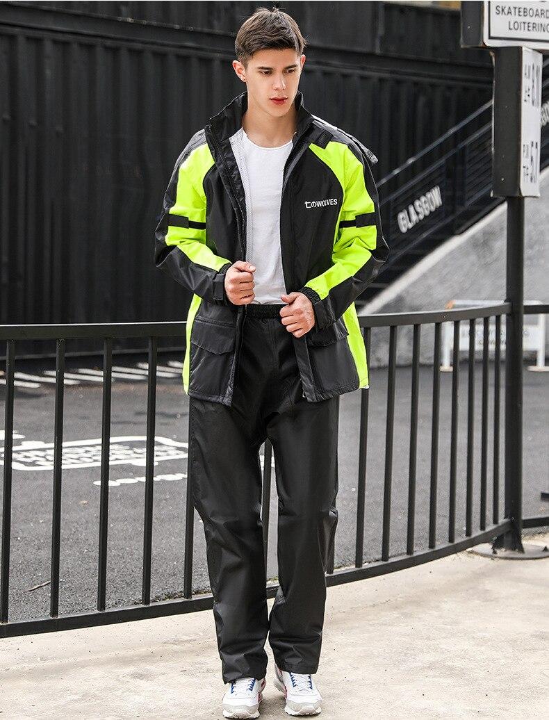 Cycling Hiking Outdoors Set Adult Raincoat Pants Hooded Motorcycle Men Rain Coat Fashion Pvc Capa Lluvia Rain Gear BW50YY enlarge