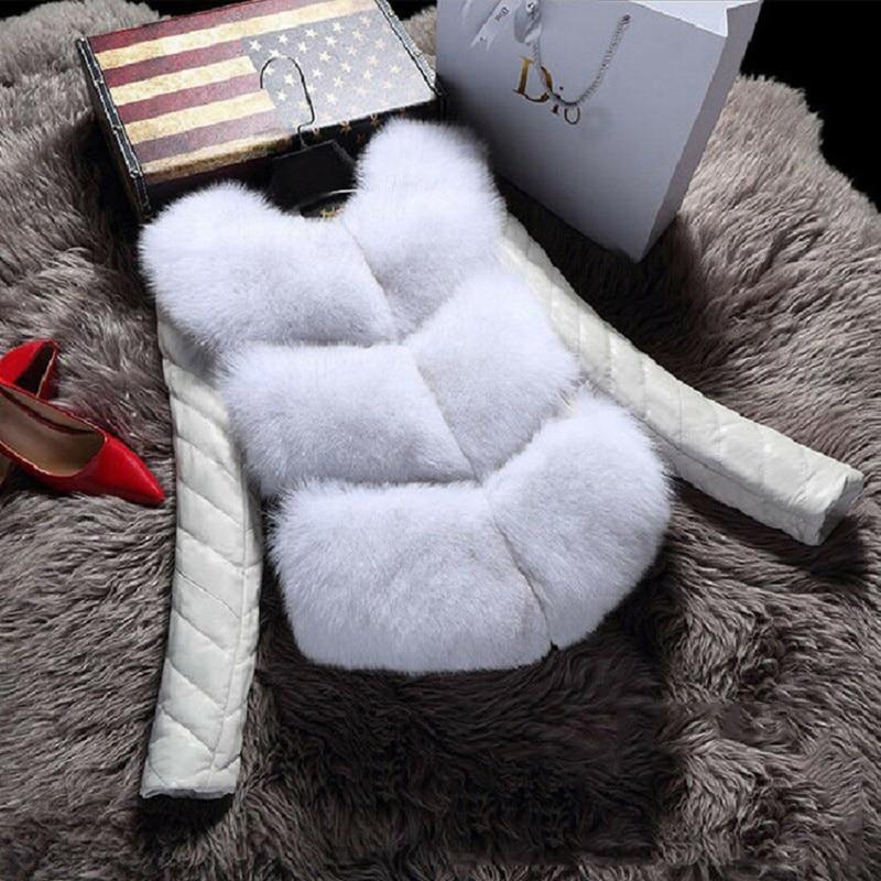 Winter Outerwear Detachable Leather Sleeve Vest Faux Fur Coats Jackets Women Fashion Female Faux Fur Vest шуба женская куртка