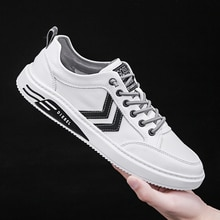 new men's casual outdoor sports flat shoes white shoes selling Korean style trendy shoes