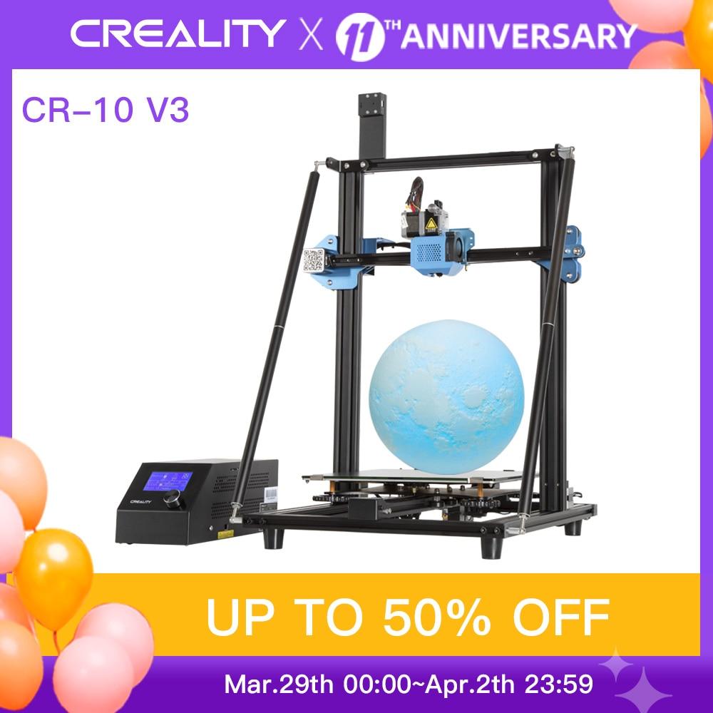 Original CREALITY CR-10 V3 3D Printer E3D Titan Direct Drive Extruder Silent Mainboard Resume Print Brand Power Supply