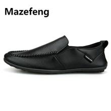 Fashion 2019 New Men Shoes Leather Doug Shoes Comfortable Men Casual Shoes Footwear Flats Men Slip o