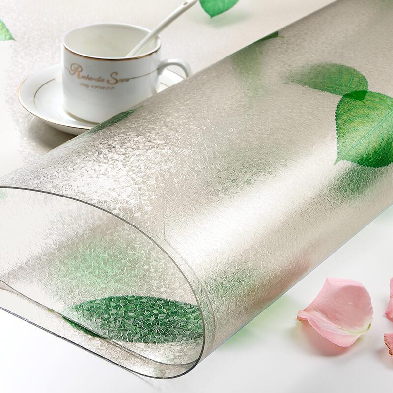 Manteles de mesa de centro de plástico de colores pvc cristal plato nórdico impermeable desechable a prueba de aceite planchado fr