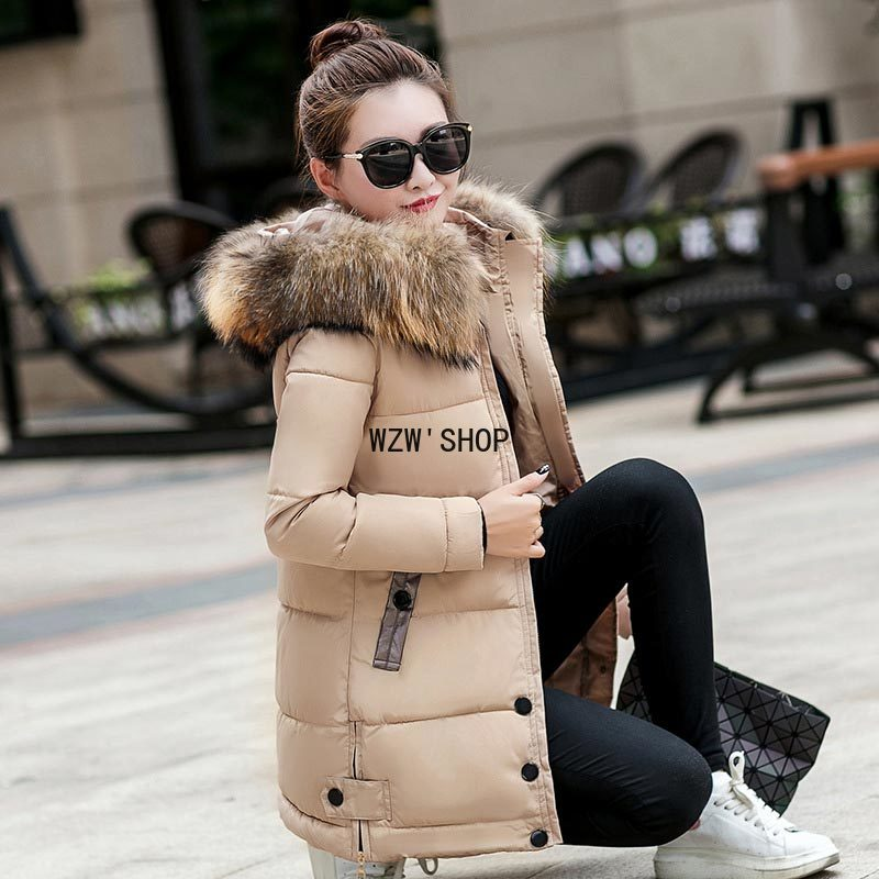 Down Coats 2021 New Fashion Hooded Thickening Super Warm Parkas Woman Jackets Long Sleeve Jacket Women Cloth Free Shipping