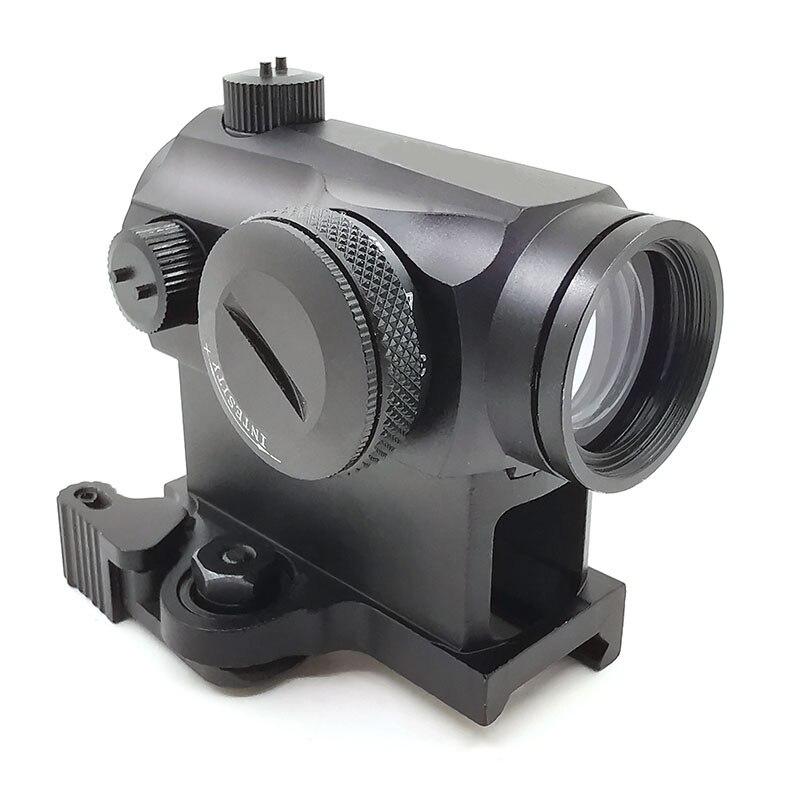 Тактический точечный прицел Mini 1X24 T1 Rifescope прицел с подсветкой снайпер красный зеленый точечный прицел с быстросъемной красной точкой