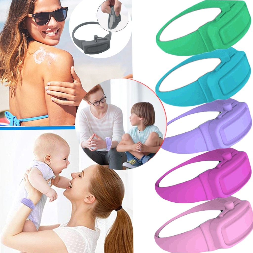 3pcs Wristband Hand Dispenser Hand Sanitizer Dispensing Silicone Wearable Dispenser Pumps Disinfecta