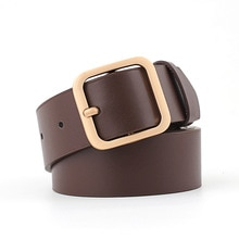Faux Leather Square Buckle Belts Women Casual Solid Wild Adjustable Belts Decoration Ladies Fashion