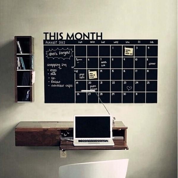 Planificador mensual, pizarra de tiza, pegatina de pared de pizarra, decoración del mes, calendario, pizarra, pegatinas DIY