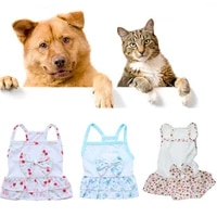 summer sweet bow pet sling dress skirt dog clothes beautiful printed dog princess dresses breathable dogs skirts pet supplies